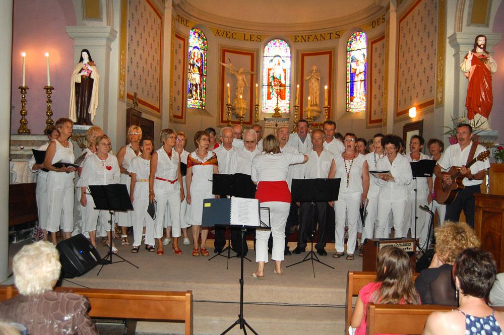 La chorale à Saint-Michel, Saint-Michel-de-Saint-Geoirs