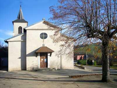Entrée principale de l'église, St-Michel-de-St-Geoirs