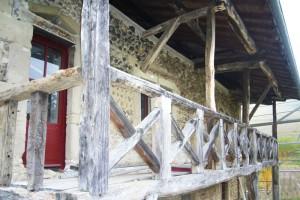 La maison en cours de restauration.
