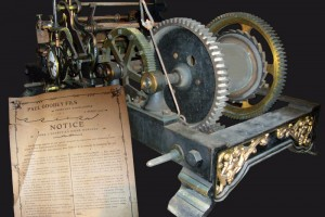 Mécanisme de l'horloge.