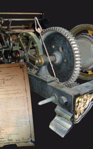 Mécanisme de l'horloge et sa notice d'entretien, Saint-Michel-de-Saint-Geoirs