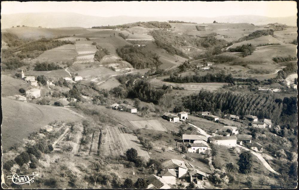 Vue aérienne de St Michel de St Geoirs