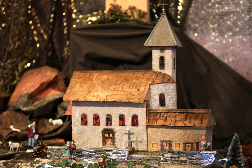 Crèche de Noël 2017, église de St-Michel-de-St-Geoirs.