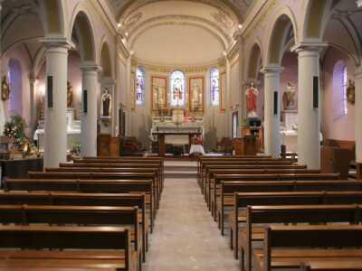 La nef de l'église, St-Michel-de-St-Geoirs