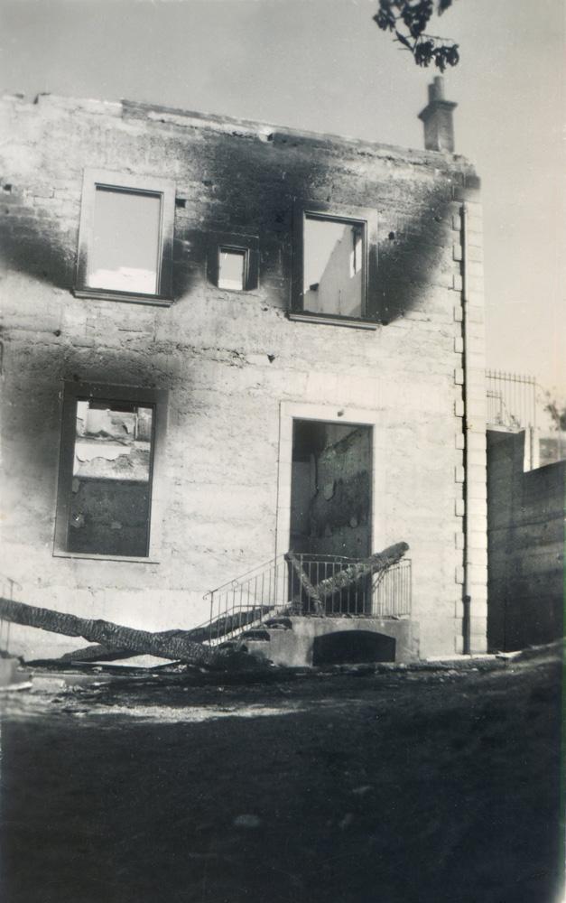 La Fraternelle de St-Michel-de-St-Geoirs après l'incendie.