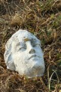 """Les dégâts causés par la foudre. La tête de la Madone presque intacte, août 2018, <span style=""""font-family: Verdana;font-size:9px;"""">Photo © Maurice Durand</span>"""