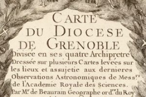 Carte diocèse de Grenoble - 1741