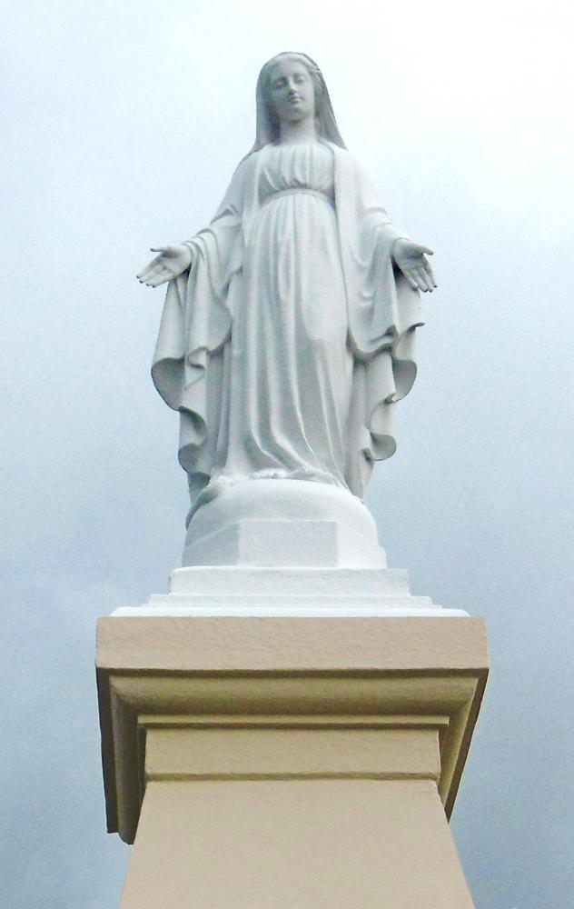 La statue restaurée