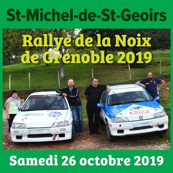 Pour la 1ère fois le Rallye de la Noix organisé par l'ASA Saint-Marcellinoise passe sur les hauteurs de notre village. Deux équipages de Saint-Michel se sont engagés : • Eric Durand et Caroline Chambon sur 106 XSI en groupe F 2000-13 • Damien Agniel et Jean-Paul Paysan sur 106 XSI en groupe A6 (équipée rallye terre). Certes, ce sont de petites cylindrées mais les pilotes sont prêts pour la compétition sur ce tronçon qu'ils connaissent bien ! Alors RDV samedi 26 octobre sur le site de La Croix de Baron où il y aura du spectacle ! (3 passages dans la journée).